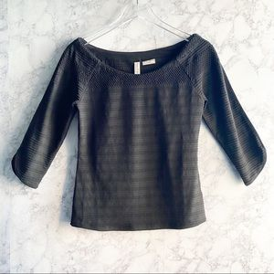 💕 MEADOW RUE for ANTHROPOLOGIE black 3/4 sleeve